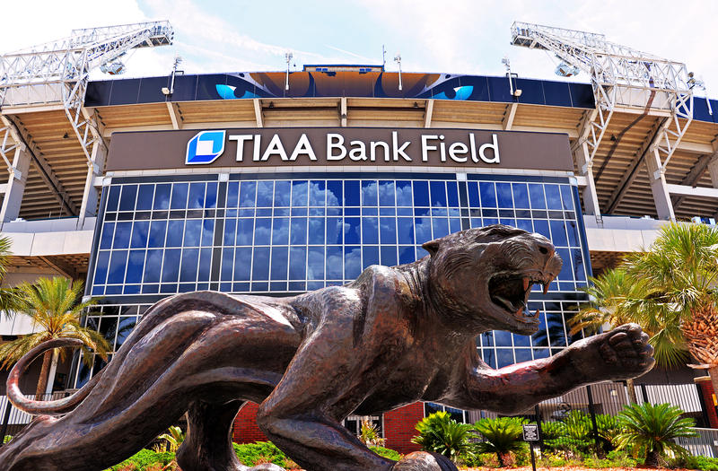 The name change to TIAA Bank Field at the home of the Jaguars has been completed.