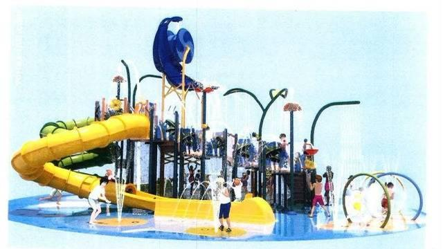 Rendering of the planned water park that would be for Embassy Suites guests on A1A in St Augustine Beach.