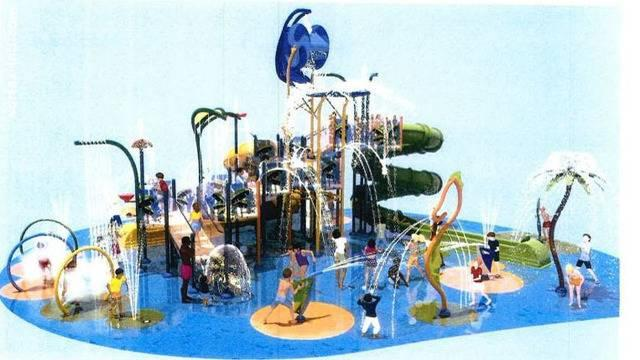 Rendering of the planned water park that was rejected at Monday night's St. Augustine Beach City Comission meeting.