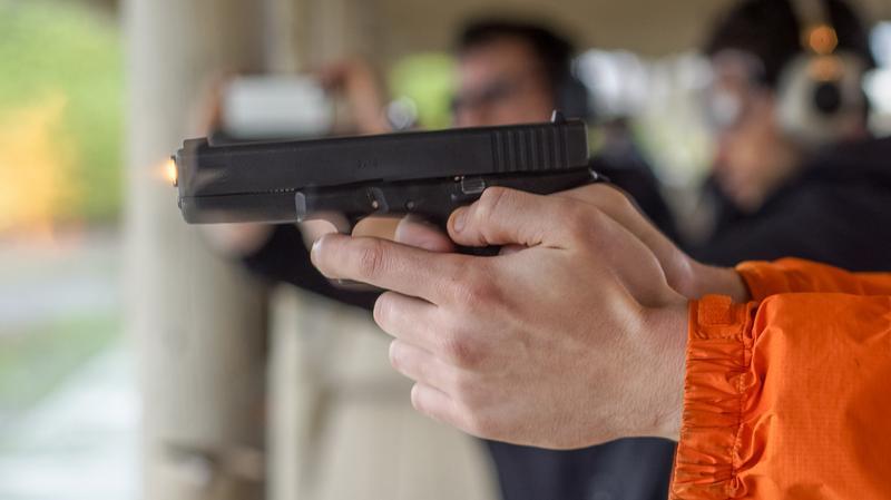 gun at gun range