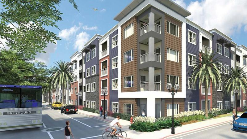 The 147-unit, four-story community at 1444 Home St. will be named the Soba Apartments.
