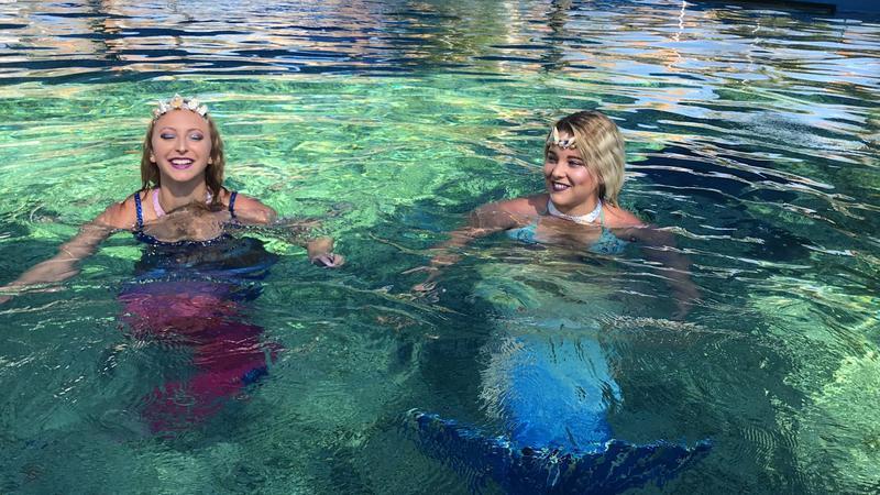 Mermaids Marina and Carina will be at the St. Augustine Aquarium Saturday.