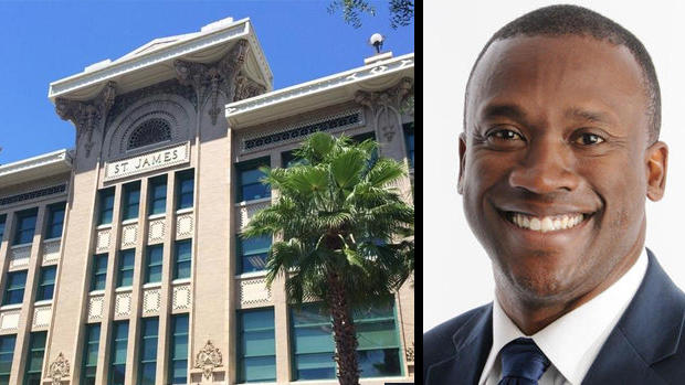 Left: Jacksonville City Hall. Right: District 10 Terrance Freeman