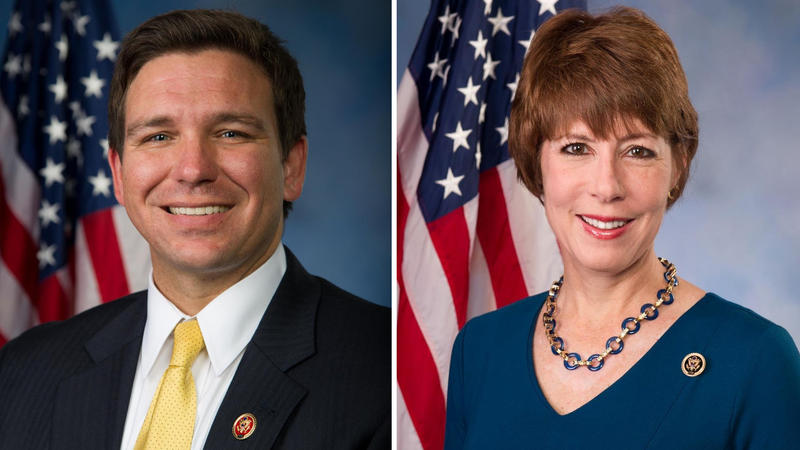 Republican Rep. Ron Graham and former Democratic Rep. Gwen Graham