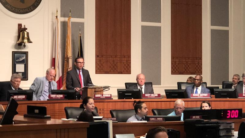 Mayor Lenny Curry presented  his proposed 2018-2019 budget to the Jacksonville City Council on Monday.