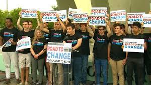 Students at a Road to Change Rally