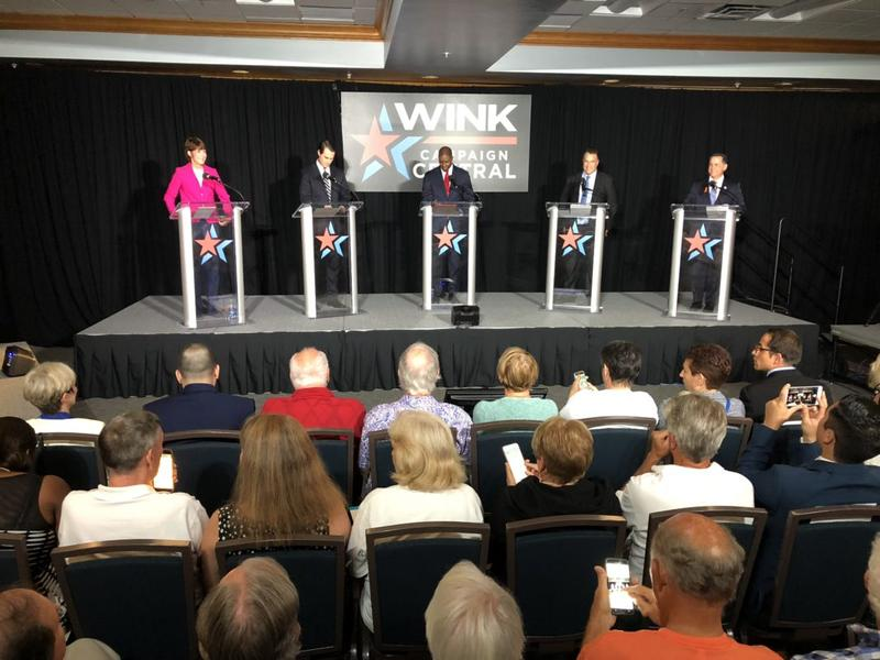 All five major Democratic candidates met for a debate in Ft. Myers Wednesday night.