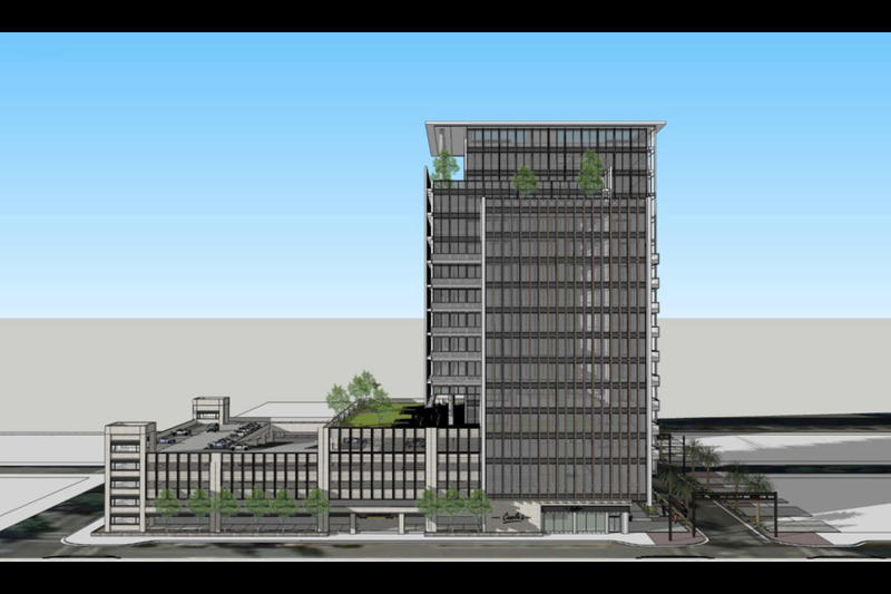 """SouthEast Development Group's conceptual plans for an """"Energy Innovation District"""" in Downtown Jacksonville would include a new headquarters for the city-owned utility JEA."""