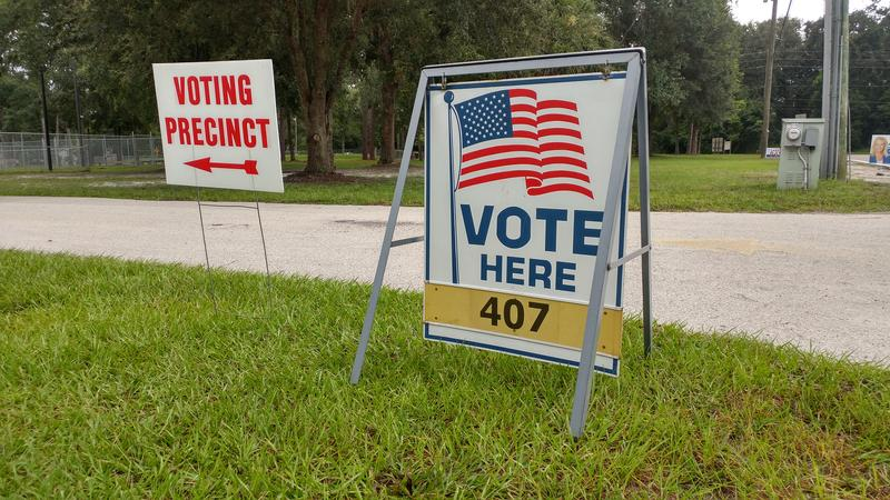Polls close at 7 p.m. in Florida.