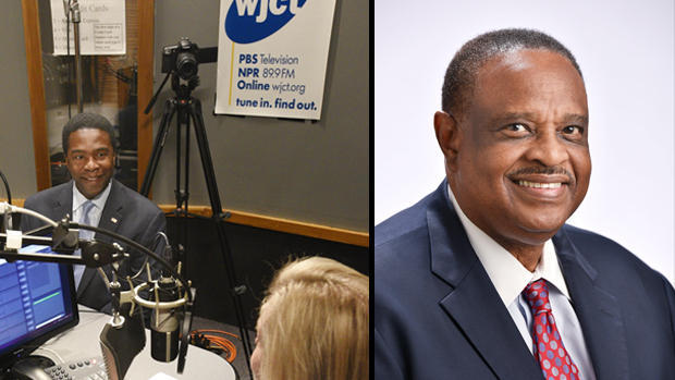 Left: Alvin Brown appears on Monday's First Coast Connect with Melissa Ross. Right: Rep. Al Lawson.