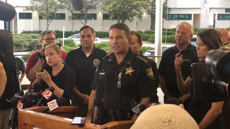 Jacksonville Sheriff Mike Williams asks for any additional information in the Jacksonville Landing shooting Sunday.