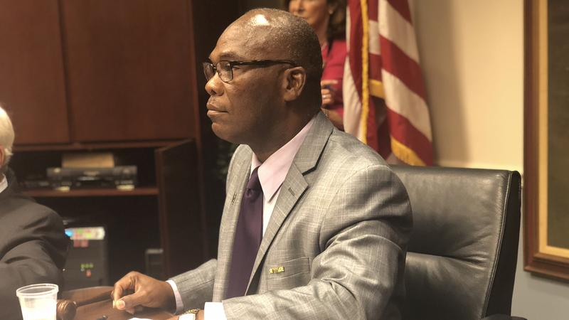 Jacksonville City Councilman Reggie Gaffney asks his colleagues to support more funding for small, faith-based anti-crime programs.