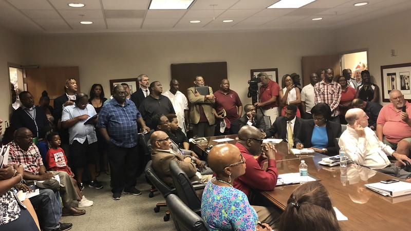 With just 24 hours noitce, Gaffney's meeting was standing room only with faith-based leaders wanting to help.
