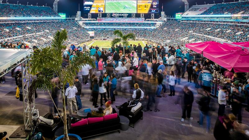Jaguars fans will be able to watch preseason games on their smartphones. Pictured: TIAA Bank Field file photo.