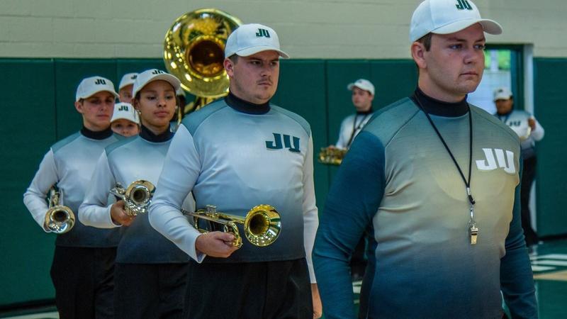 Jacksonville University's new branding was unveiled Tuesday inside Swisher Gymnasium.
