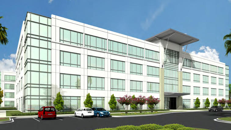 A rendering of the proposed Park Place office building in Nocatee.