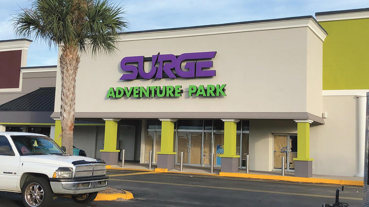 Surge Adventure Park is opening in the Regency Court Shopping Center.