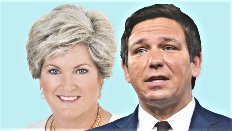 Susie Wiles (left) is taking over as the chair of Ron Desantis' gubernatorial campaign.