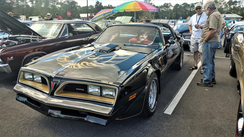 Smokey and the Bandit edition Trans Am at a car show