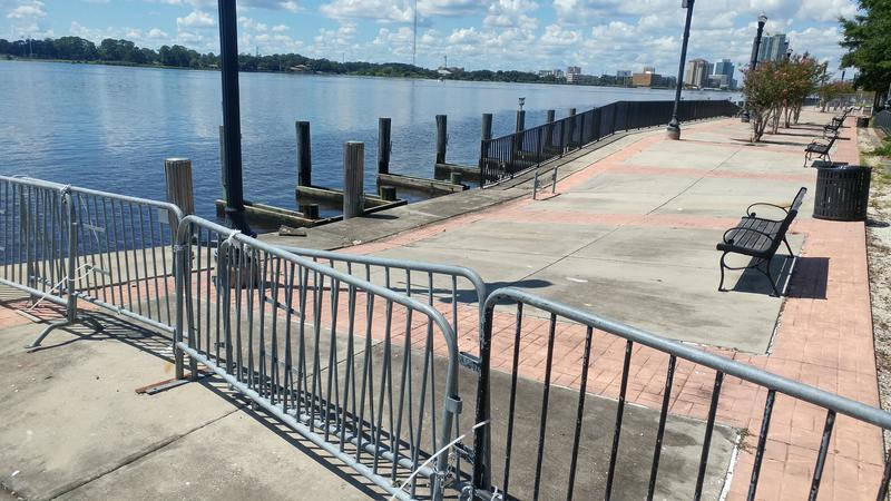 One year later this damaged portion of the Northbank Riverwalk at Metropolitan Park still hasn't been repaired after taking a beating during Hurricane Irma.
