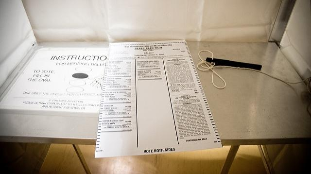 ballot in a ballot box