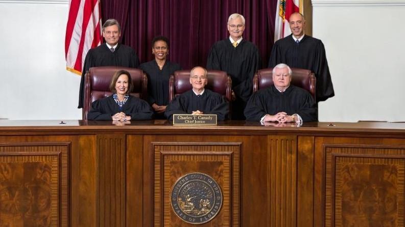 Florida's Supreme Court justices.