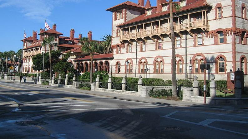 One of the most famous landmarks along King Street in St. Augustine is Flagler College.