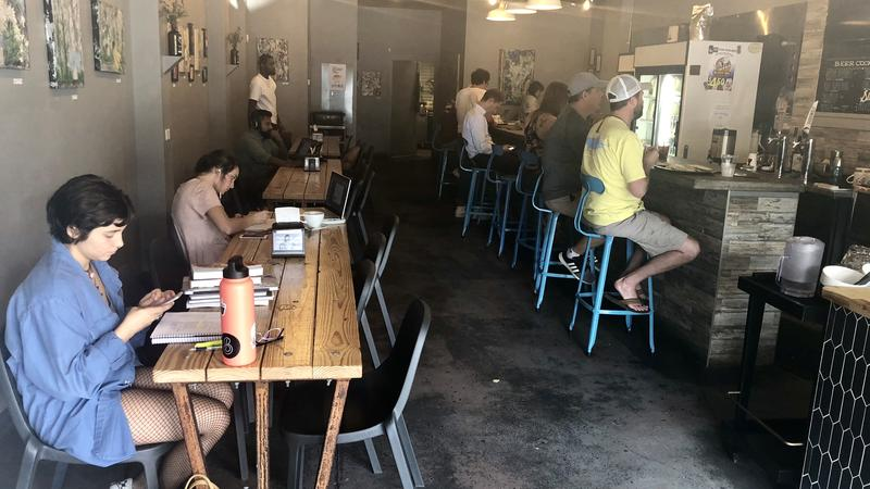 Brew coffee shop in Five Points Thursday.