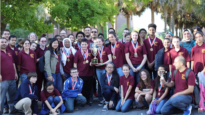 Students from River City Science Academy won the state Science Olympiad Championship in March.