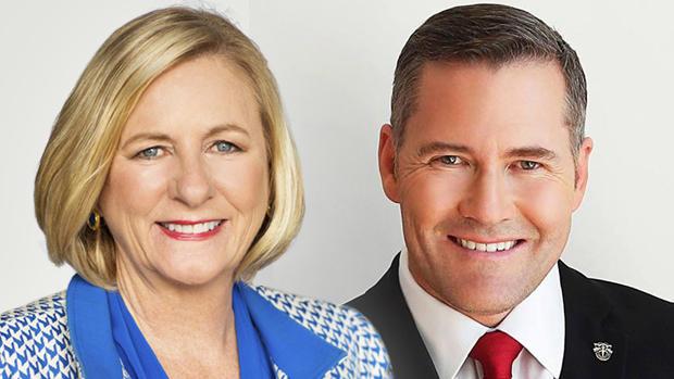 Democrat Nancy Soderberg and Republican Michael Waltz.