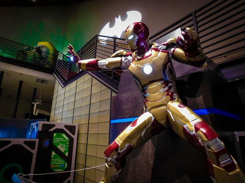 Ironman is among the superheroes chronicled in MOSH's Hall of Heroes exhibit.