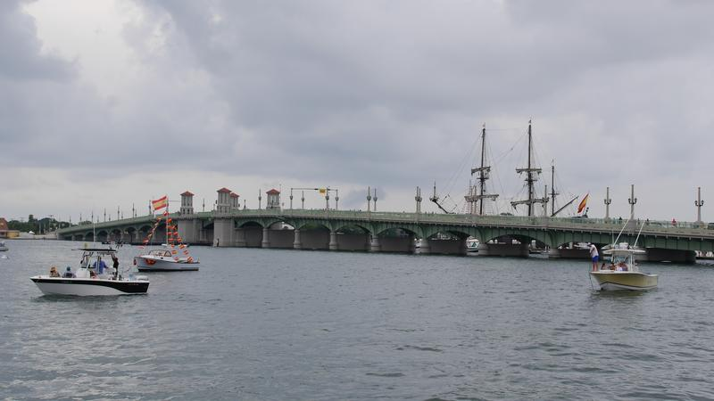 The Bridge of Lions in St. Augustine is pictured.