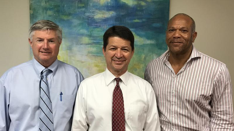 Left to right: Former City Council President Matt Carlucci,  JU Public Policy Institute Director Rick Mullaney and Attorney Earl Johnson