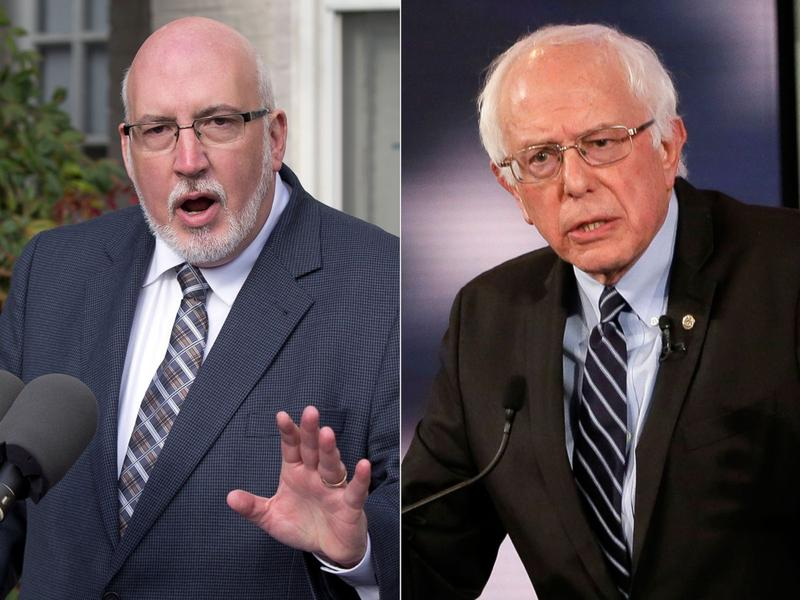 Jeff Weaver (l) who campaign manager for 2016 presidential candidate Barry Sander (r).