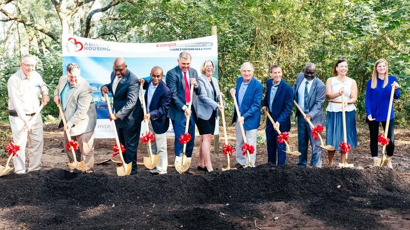 Officials break ground at Village at Hyde Park in Jacksonville's Westside.