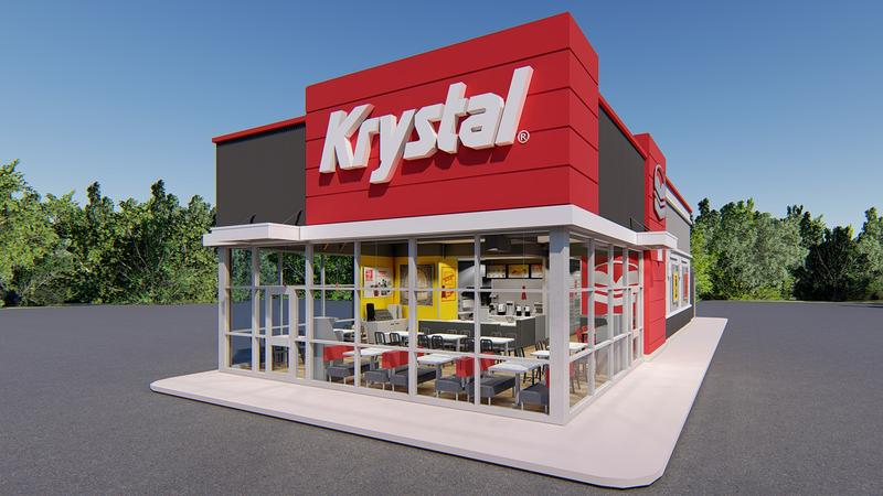 Krystal's new concept store will replace its University Blvd. and Main St. restaurants.