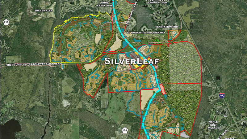 The SilverLeaf community is planned along St. Johns Parkway south of County Road 210 in St. Johns County