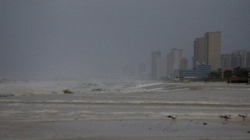 Panama City Beach saw strong surf on Wednesday morning, as Hurricane Michael approached the Florida Panhandle.
