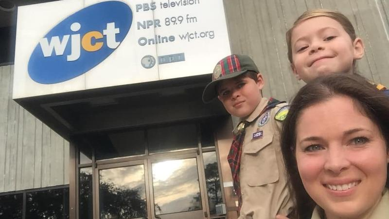 Representatives from Cub Scout Pack 837 and the Boy Scouts of America North Florida Council visited First Coast Connect at WJCT Wednesday.