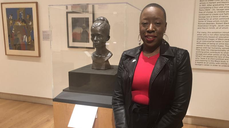 Curator of the Cummer's Augusta Savage exhibit Jeffreen Hayes said this bust of one of Savage's former mentees is one of her favorite pieces.