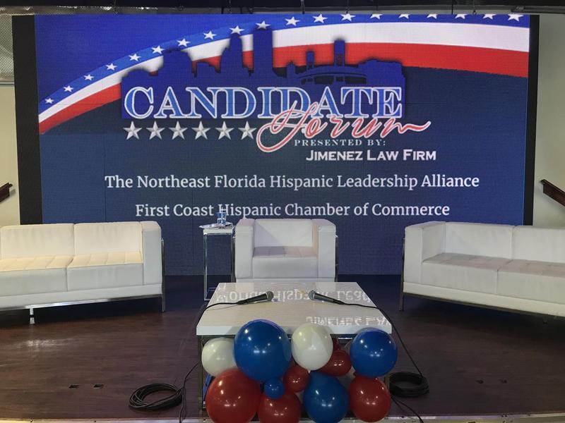 Candidate Forum banner.