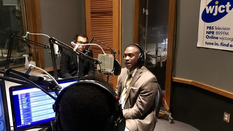 District 10 Jacksonville City Councilman Terrance Freeman (at microphone) appeared on First Coast Connect Thursday.