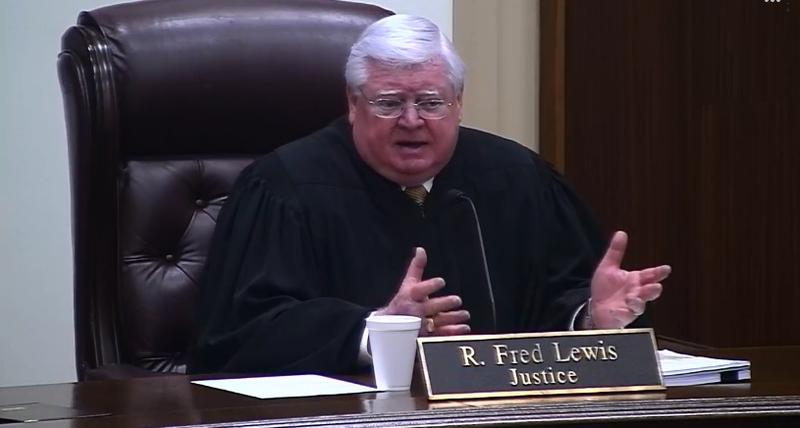 Fred Lewis questions lawyers on Tuesday, Oct. 2