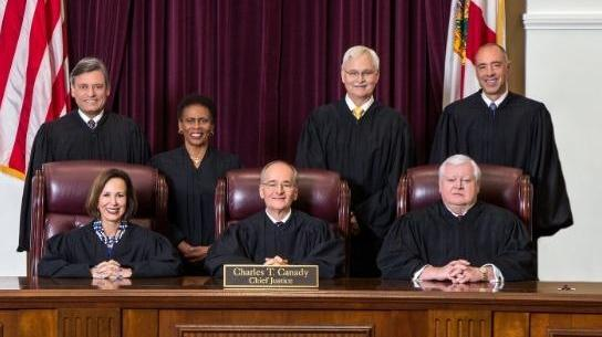 Florida Supreme Court justices official portrait