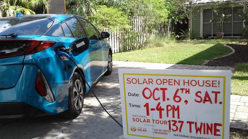 Warren Clark's Toyota Prius Prime is primarily powered by sunshine. His St. Augustine home is part of this weekend's National Solar Tour.