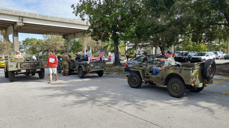 WJCT Studios was one of the staging areas Monday morning for Jacksonville's Veterans Day Parade.