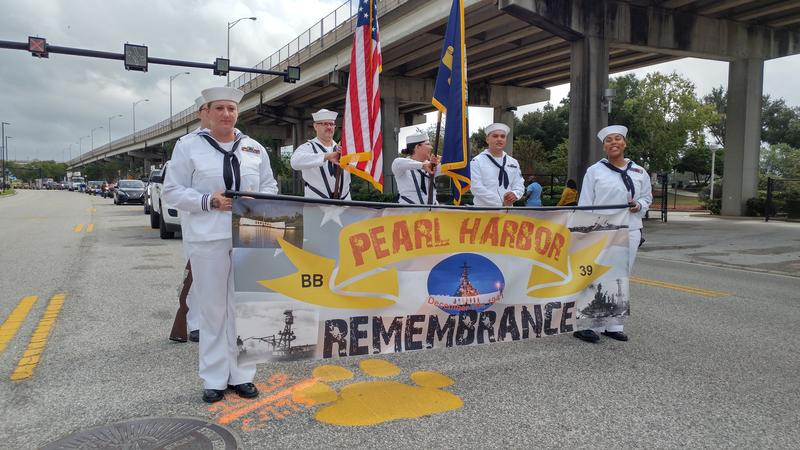 Jacksonville's Veterans Day parade made its way down Gator Bowl Blvd. and E. Bay St. Monday morning.