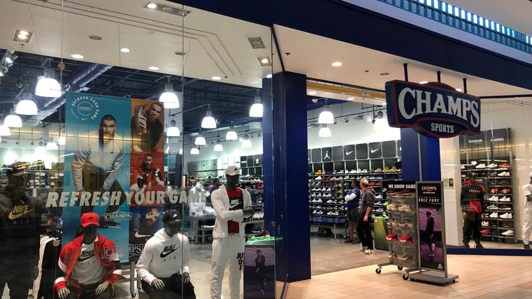 Champs and Foot Locker operate in the east wing of Regency Square Mall, which has closed its west wing except for the Dillard Clearance Center. Dillard's owns its building.