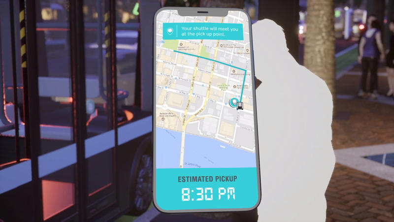 Smartphones would provide additional information about the innovation corridor.