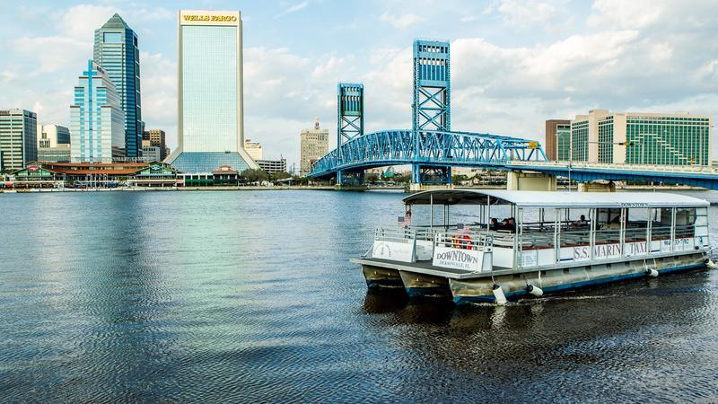 View of downtown Jacksonville from the St. Johns River.